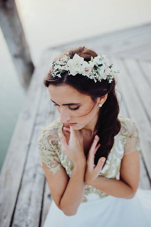 """Kvetinový nežný venček """"dotyky dvoch duší"""""""