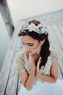 """Ozdoby do vlasov - Kvetinový nežný venček """"dotyky dvoch duší"""" - 9102132_"""