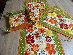 Úžitkový textil - Prestieranie - rozsypané kvety - 9105519_