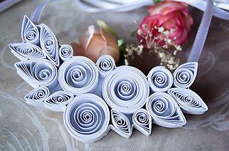 Náhrdelníky - Quilling náhrdelník pre nevestu - 9100996_