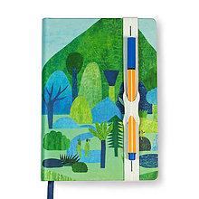 Papiernictvo - Zápisník A6 Výletník (Zápisník A6 Výletník (dielovaná gumička)) - 9103892_