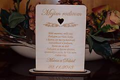 Poďakovanie rodičom drevená tabuľka 7