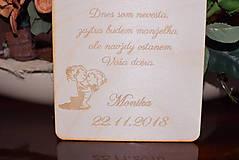 Darčeky pre svadobčanov - Poďakovanie rodičom drevená tabuľka 6 - 9102627_