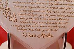 Darčeky pre svadobčanov - Poďakovanie rodičom drevené srdiečko   14 - 9103332_
