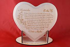 Darčeky pre svadobčanov - Poďakovanie rodičom drevené srdiečko   14 - 9103333_