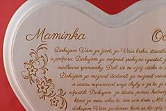 Darčeky pre svadobčanov - Poďakovanie rodičom drevené srdiečko   14 - 9103335_