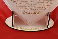 Darčeky pre svadobčanov - Poďakovanie rodičom drevené srdiečko   14 - 9103336_