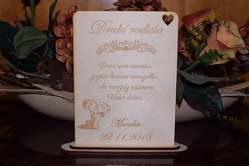 Poďakovanie rodičom drevená tabuľka 6