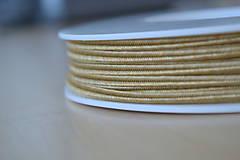 Galantéria - Šujtášová šnúrka tmavý karamel 3mm, 0.22€/meter - 9101674_