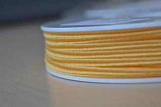Galantéria - Šujtášová šnúrka mandarinka 3mm, 0.25€/meter - 9101740_