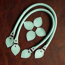 Galantéria - Ucha na kabelku/tašku 40 - 45cm světlé modré - 9105374_