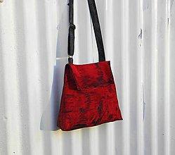 """Kabelky - Červená kožená kabelka crossbody """" Used Look"""" - 9101933_"""