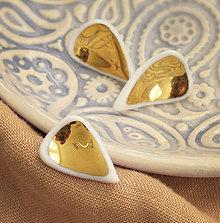 Náušnice - Zlaté lupienky. - 9104172_