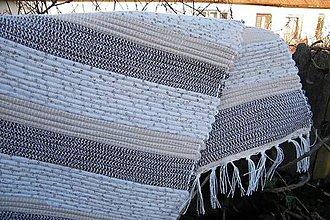 Úžitkový textil - Tkaný koberček hnedý - 9103455_