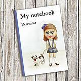 Papiernictvo - Venčenie psa - dievčenský zápisník (4) - 9104174_
