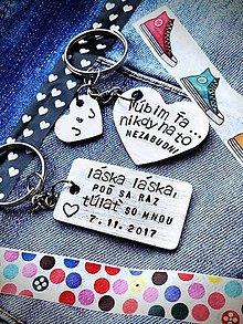 Kľúčenky - láska láska poď sa raz túlať so mnou ... cena je za obdlžník s textom - 9111303_