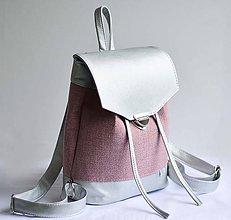 Batohy - VEVO batoh (strieborno-ružový) - 9110644_