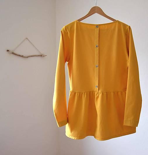 Topy - pupa .úpletový top žltý - 9107443_