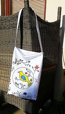 Nákupné tašky - Plátená taška - vtáčik - 9107724_