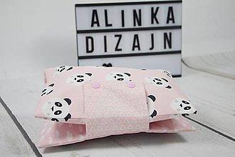 Detské doplnky - Organizér na plienky ružový s pandami - 9109334_