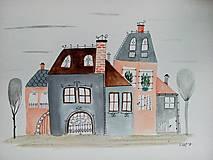 - Mesto 25 ilustrácia / originál maľba  - 9107335_