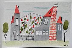 - Pohľadnica mesto 3 ilustrácia  / originál maľba  - 9107373_