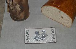 Úžitkový textil - Ľanový chlebník Deti natur - 9107259_