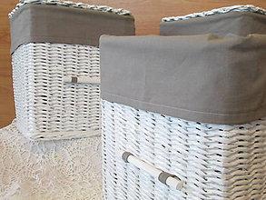 Košíky - Košíky - So šedou výstelkou - 9108682_