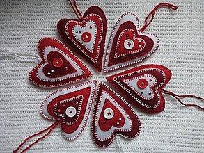 Dekorácie - Srdiečka nielen valentínske - 9111095_