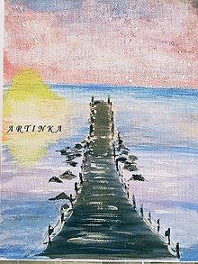 Obrazy - Maľba - akryl - mólo - 9107160_