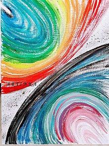 Obrazy - maľba - farebná abstrakcia - 9107225_