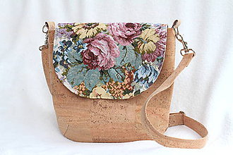 Kabelky - Korková kabelka flowers - 9109835_