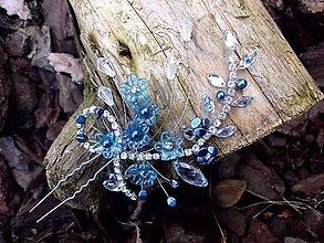 Ozdoby do vlasov - vlásenka štrasová (Modrá) - 9110061_