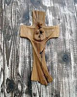 Dekorácie - Drevený krížik - 9107142_