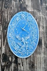 Hodiny - Nástenné hodiny modrobiele - 9107399_