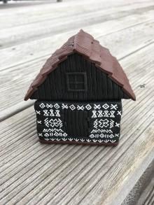 Nádoby - Čičmanský domček - čierny - 9108372_