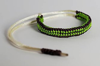 Náramky - Náramok zeleno-hnedý - 9111167_
