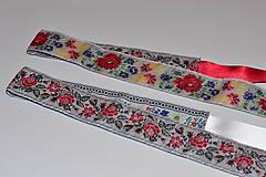 Opasky - Folk opasok 5 cm obojstranný - 9110699_