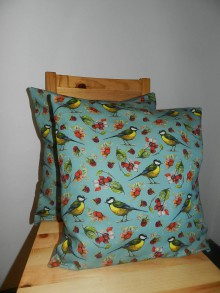 Úžitkový textil - Vankúš sýkorky- digitálna potlač - 9109717_