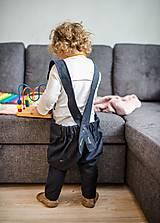 Detské oblečenie - Trakové nohavice - 9106678_