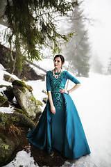 Šaty - Dlhé zelené šaty Slavianka - 9111172_