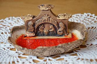 Svietidlá a sviečky - Betlémek na čajovou svíčku - 9110522_