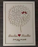 """Dekorácie - Svadobný strom """"Birds of love"""" - kniha hostí - lístočky - 9110713_"""