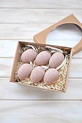 Dekorácie - jarná sada vajíčok - béžovohnedé - 9109730_