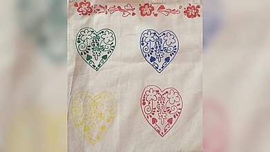Iné tašky - ♥ Plátená, ručne maľovaná taška ♥ - 9110232_