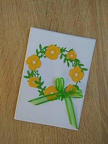 Papiernictvo - Pohľadnica - Jarné kvetinky - 9110246_