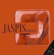 Na mobil - Kožené puzdro s minerálom MINERA - biele (Jaspis červený) - 9109871_