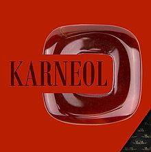 Na mobil - Kožené puzdro s minerálom MINERA - hnedé (Karneol) - 9110041_