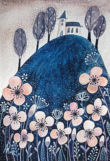 Kresby - Ružové kvety - 9108811_