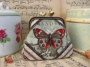 Taštičky - Starobylý motýl - minitaštička - 9109592_